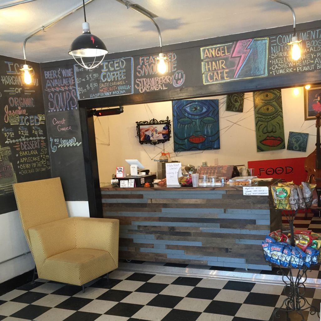"""Photo of Angel Hair Cafe/Salon  by <a href=""""/members/profile/happycowgirl"""">happycowgirl</a> <br/>remodeled interior  <br/> April 27, 2016  - <a href='/contact/abuse/image/68233/146444'>Report</a>"""