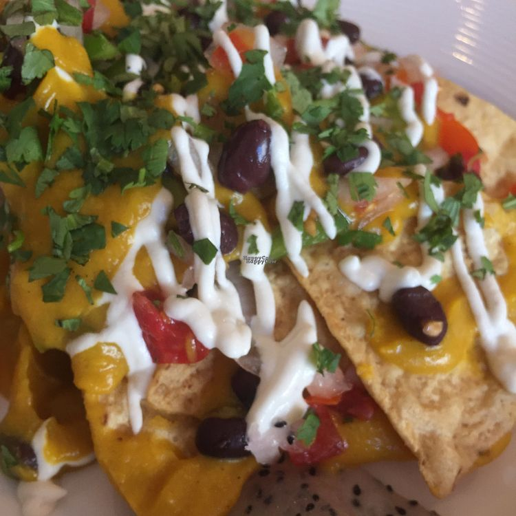 """Photo of Angel Hair Cafe/Salon  by <a href=""""/members/profile/happycowgirl"""">happycowgirl</a> <br/>vegan nachos <br/> October 8, 2016  - <a href='/contact/abuse/image/68233/180704'>Report</a>"""