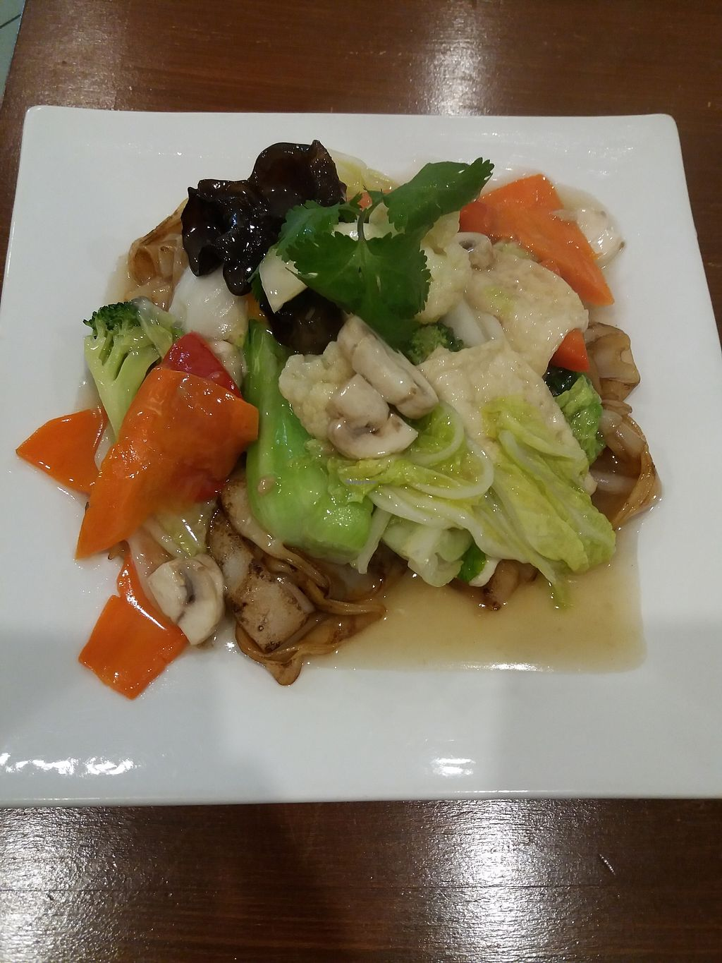 "Photo of Cay Da Da  by <a href=""/members/profile/veganvirtues"">veganvirtues</a> <br/>Mixed veggies with noodles <br/> June 28, 2017  - <a href='/contact/abuse/image/68235/274214'>Report</a>"