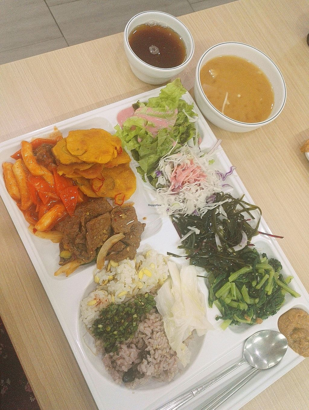 "Photo of Seoul National University Vegan Buffet - 서울대학교 채식뷔페  by <a href=""/members/profile/EOH"">EOH</a> <br/>tteokbokki, mock meat, pumpkin (?) Pajeon  <br/> July 31, 2017  - <a href='/contact/abuse/image/68241/287276'>Report</a>"