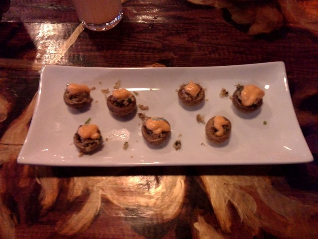"""Photo of CLOSED: Los Antojos del Alma  by <a href=""""/members/profile/Ryecatcher"""">Ryecatcher</a> <br/>Stuffed mushrooms - entree <br/> February 28, 2016  - <a href='/contact/abuse/image/68256/138078'>Report</a>"""