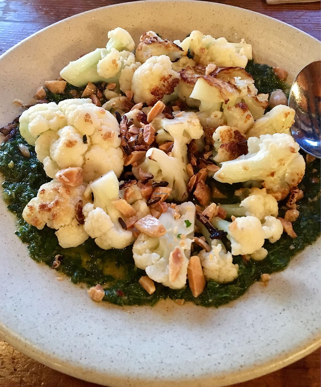 """Photo of Solstice Pizza  by <a href=""""/members/profile/Clean%26Green"""">Clean&Green</a> <br/>Roasted cauliflower - yum!  <br/> April 26, 2018  - <a href='/contact/abuse/image/68257/391092'>Report</a>"""