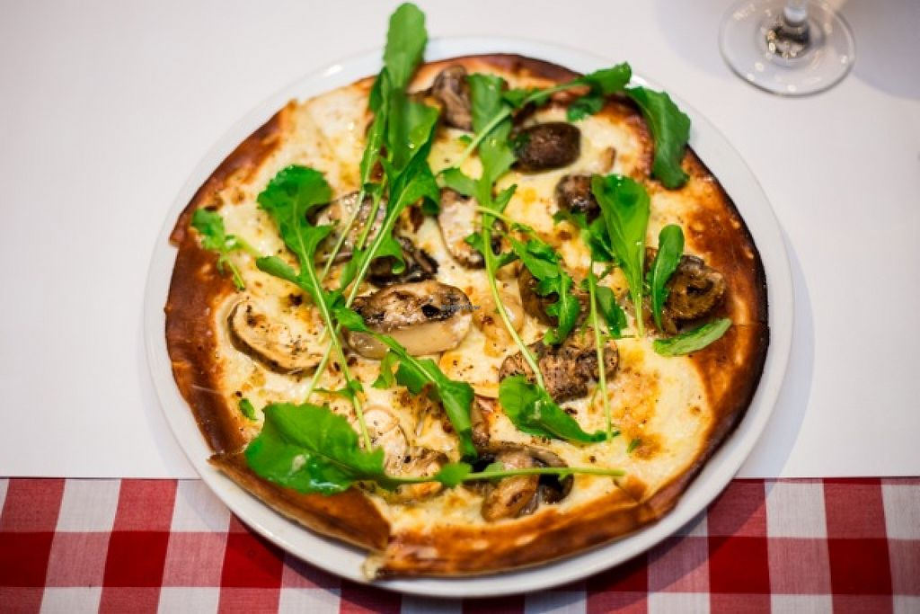 "Photo of Farelli's Trattoria  by <a href=""/members/profile/Loudogqueenstown"">Loudogqueenstown</a> <br/>Bianco pizza - roast mushroom, mascarpone cheese,garlic and rocket on a thyme oil base <br/> January 12, 2016  - <a href='/contact/abuse/image/68261/132190'>Report</a>"