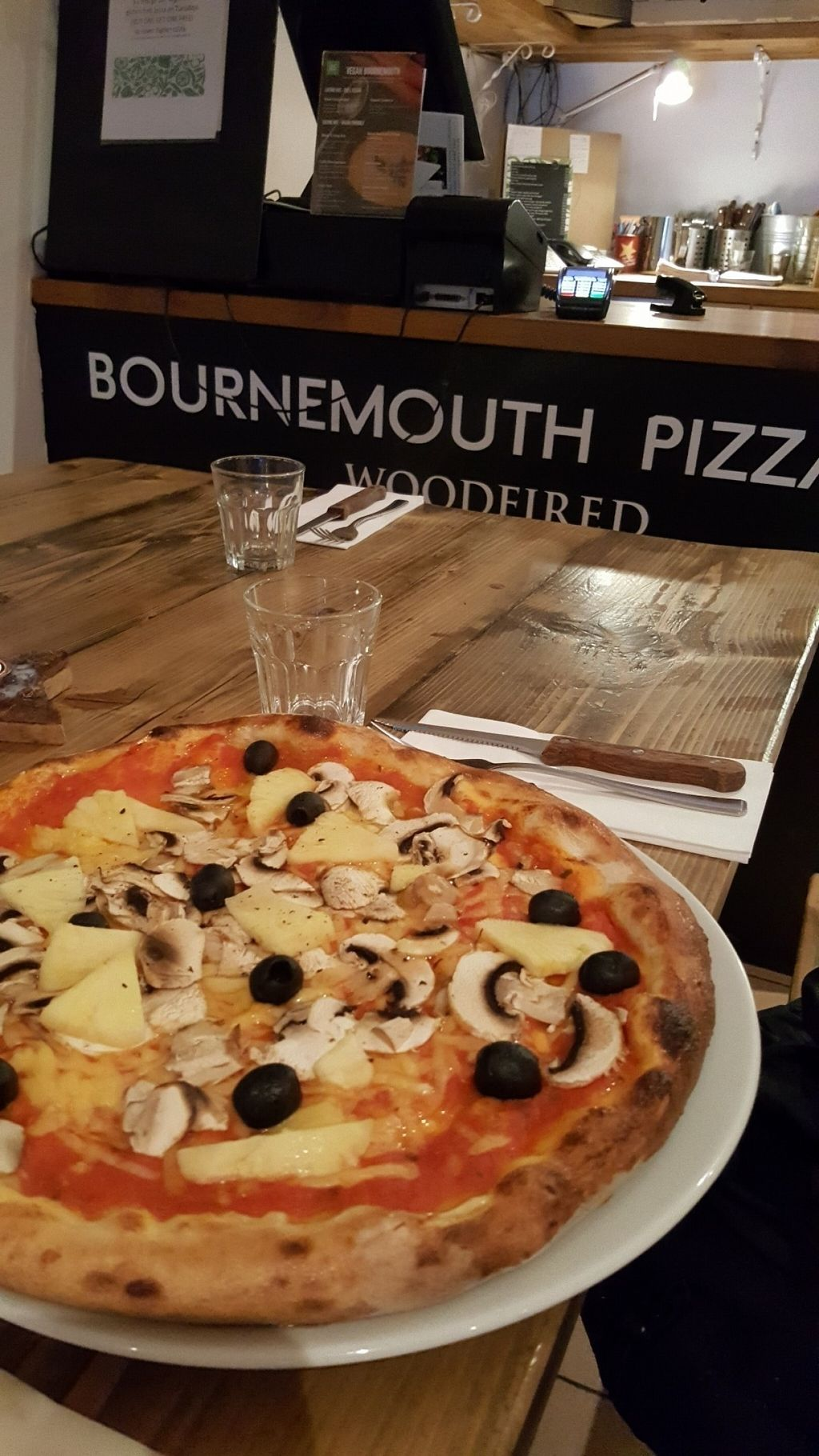 """Photo of Bournemouth Pizza   by <a href=""""/members/profile/Clare"""">Clare</a> <br/>Vegan pizza with violife cheese <br/> July 18, 2016  - <a href='/contact/abuse/image/68302/160787'>Report</a>"""