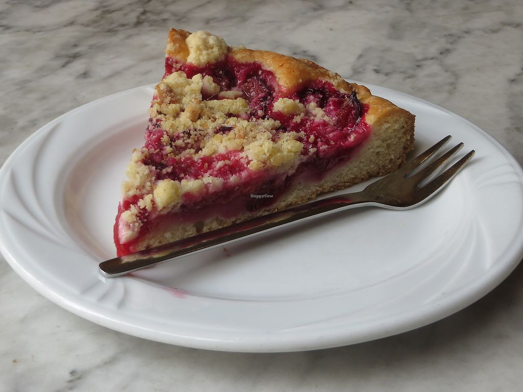 """Photo of Cafe Schrill  by <a href=""""/members/profile/VegiAnna"""">VegiAnna</a> <br/>vegan plum streusel cake <br/> July 26, 2017  - <a href='/contact/abuse/image/68303/284876'>Report</a>"""