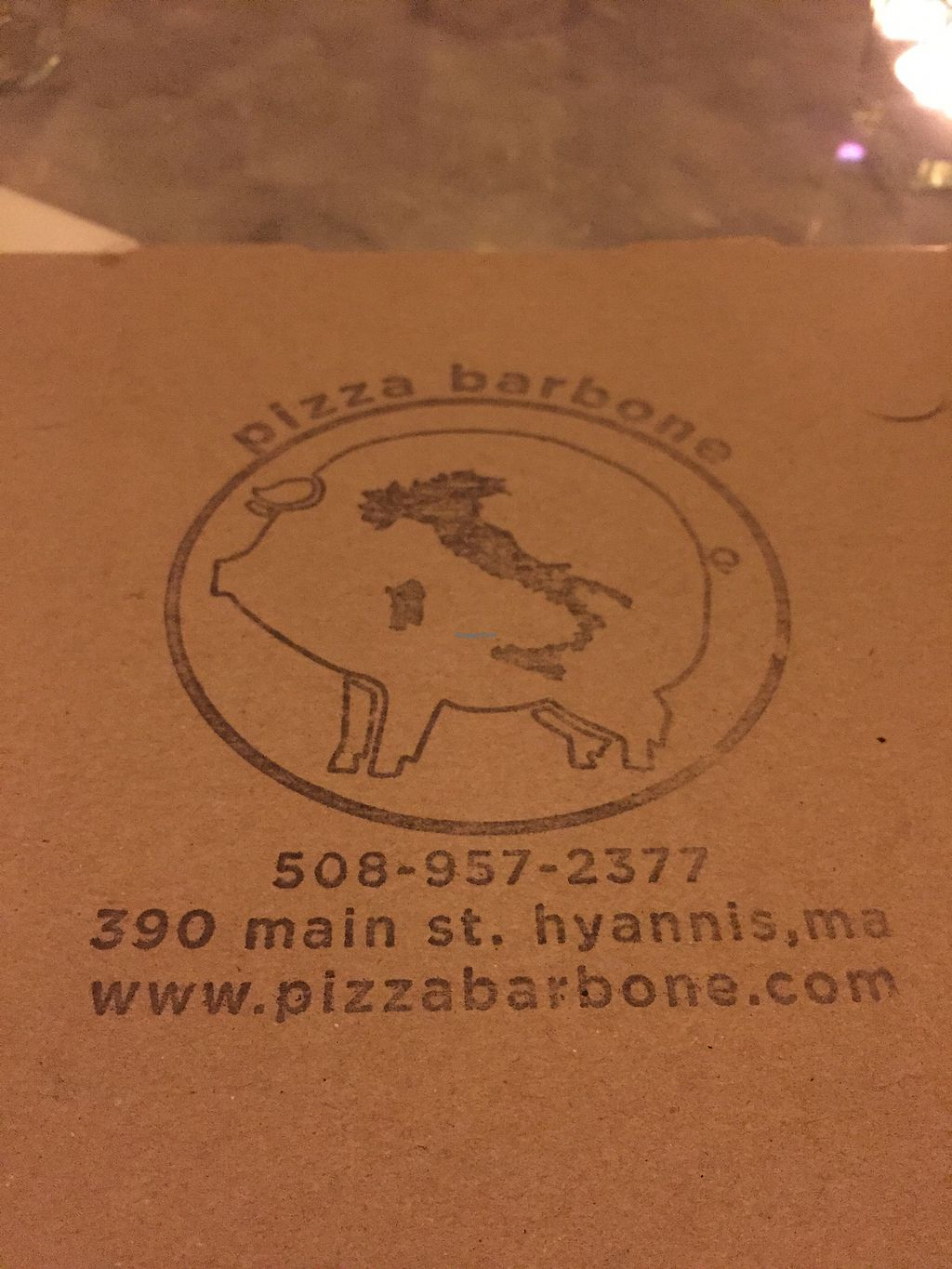 """Photo of Pizza Barbone  by <a href=""""/members/profile/haleylikesspinach"""">haleylikesspinach</a> <br/>take out box  <br/> August 31, 2017  - <a href='/contact/abuse/image/68305/299249'>Report</a>"""