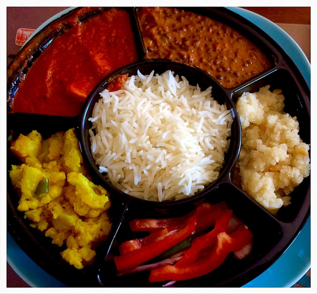 """Photo of The Veggie Thali  by <a href=""""/members/profile/Birch"""">Birch</a> <br/>Great selection and very tasty! <br/> April 23, 2016  - <a href='/contact/abuse/image/68310/145892'>Report</a>"""