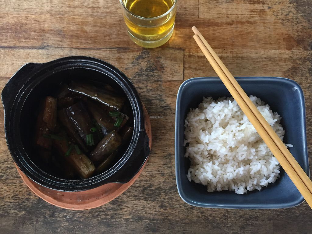 """Photo of Annen Vegetarian & Yoga  by <a href=""""/members/profile/karlie"""">karlie</a> <br/>Braised eggplant claypot <br/> December 8, 2017  - <a href='/contact/abuse/image/68316/333405'>Report</a>"""