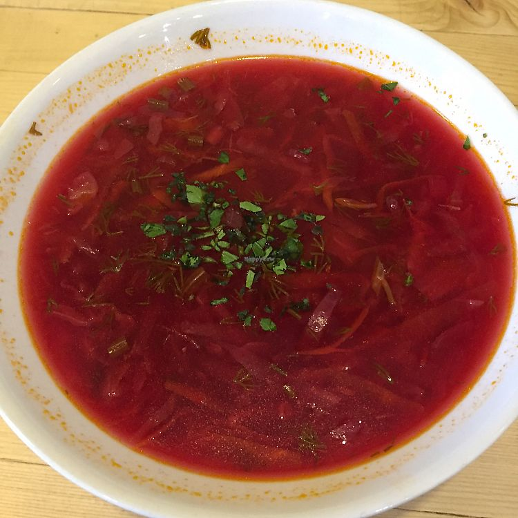 """Photo of CLOSED: Loving Hut   by <a href=""""/members/profile/pjp"""">pjp</a> <br/>beetroot soup <br/> July 14, 2017  - <a href='/contact/abuse/image/68328/280172'>Report</a>"""