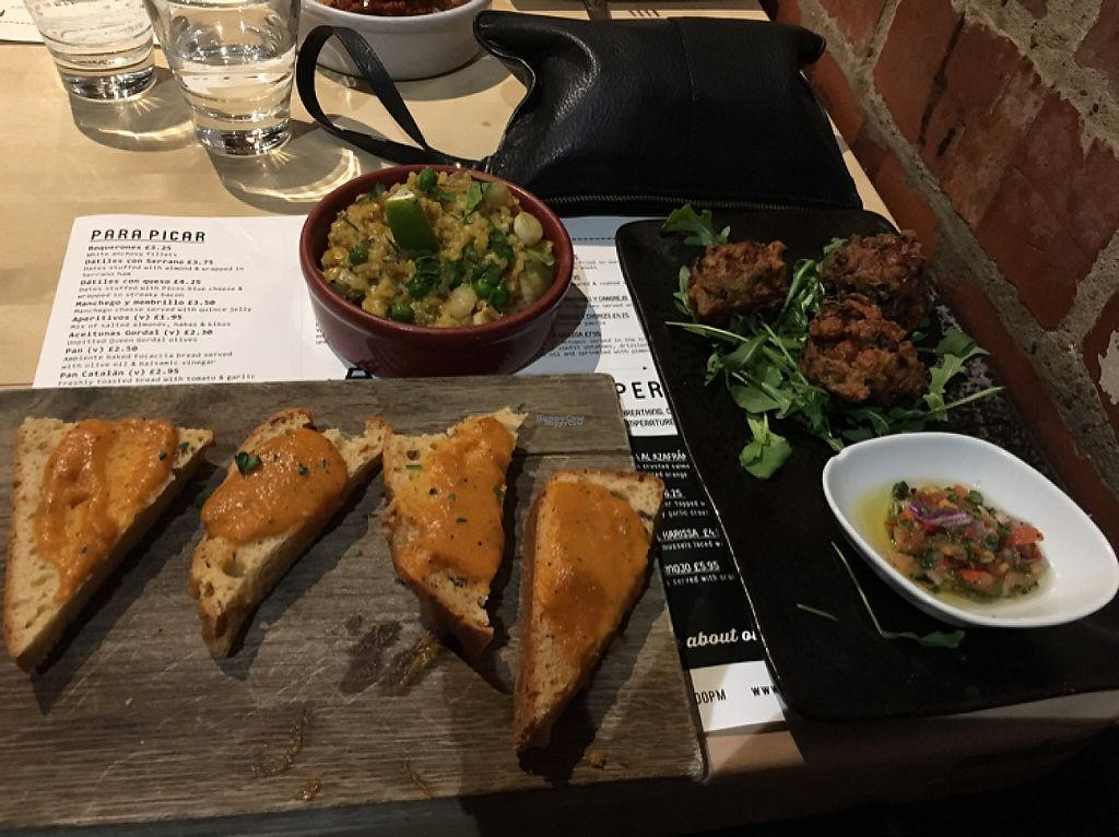 """Photo of Ambiente Tapas  by <a href=""""/members/profile/LisettePriestley"""">LisettePriestley</a> <br/>vegan feast  <br/> March 3, 2017  - <a href='/contact/abuse/image/68332/232156'>Report</a>"""
