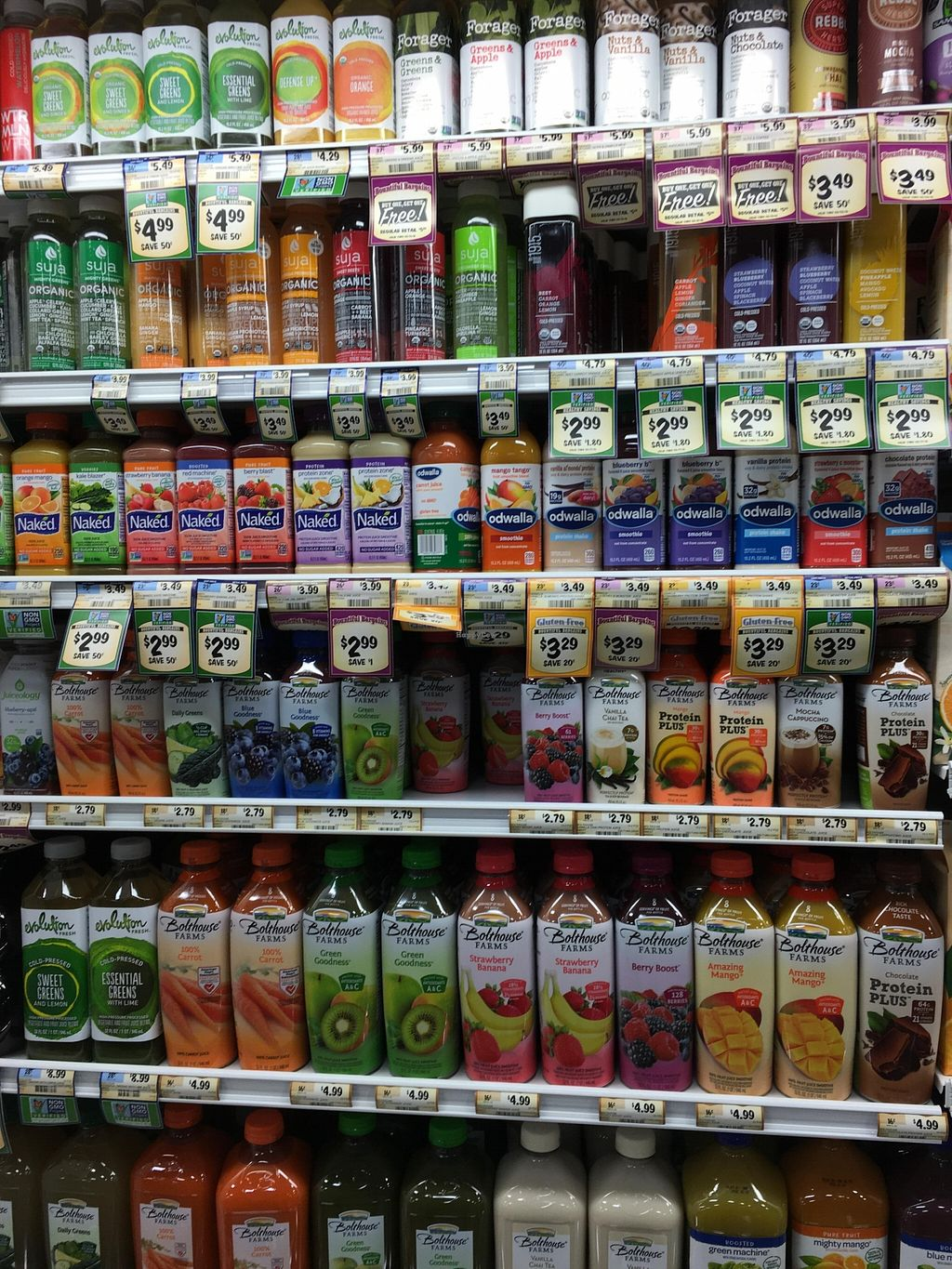 """Photo of Sprouts Farmers Market  by <a href=""""/members/profile/cookiem"""">cookiem</a> <br/>Beverages- juices <br/> February 20, 2016  - <a href='/contact/abuse/image/68375/137020'>Report</a>"""