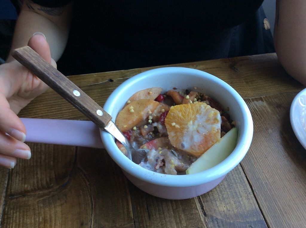 """Photo of By Lima  by <a href=""""/members/profile/happyowl"""">happyowl</a> <br/>Fruit bowl with almond yoghurt and buckwheat <br/> November 27, 2016  - <a href='/contact/abuse/image/68406/195192'>Report</a>"""