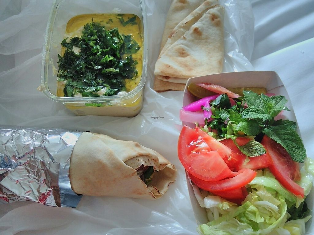 """Photo of Rima's Food Truck  by <a href=""""/members/profile/SJ82"""">SJ82</a> <br/>baba ganoush & falafel roll <br/> July 26, 2017  - <a href='/contact/abuse/image/68412/284943'>Report</a>"""
