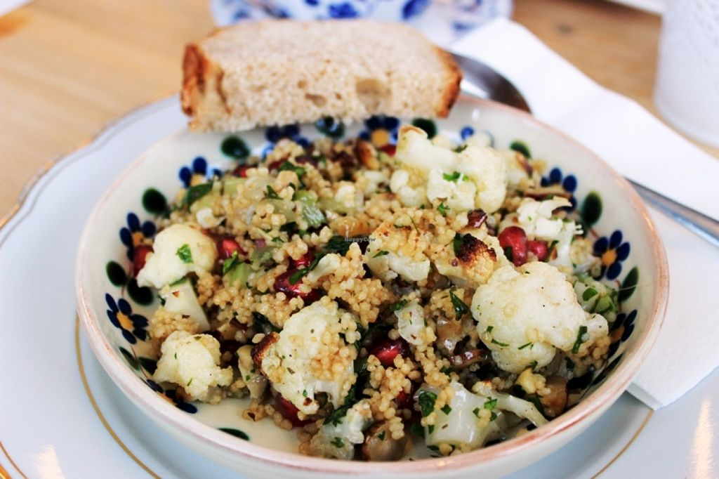 """Photo of Hugs & Cups  by <a href=""""/members/profile/SueClesh"""">SueClesh</a> <br/>cous-cous salad with cauliflower and pomegranate seeds <br/> January 18, 2016  - <a href='/contact/abuse/image/68438/132857'>Report</a>"""