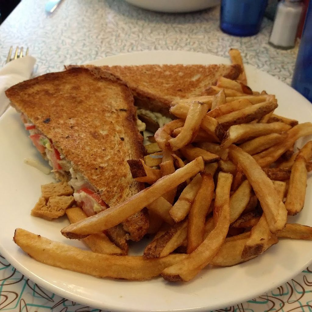 """Photo of West Town Bakery and Diner - West Town  by <a href=""""/members/profile/makemenervous"""">makemenervous</a> <br/>Vegan Loaded Griddle Cheese <br/> March 22, 2017  - <a href='/contact/abuse/image/68457/239558'>Report</a>"""