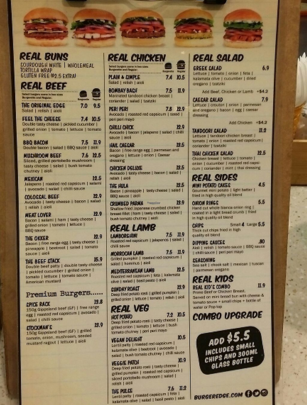 "Photo of CLOSED: Burger Edge - Queens Plaza  by <a href=""/members/profile/Mike%20Munsie"">Mike Munsie</a> <br/>clip board menu <br/> December 5, 2016  - <a href='/contact/abuse/image/68474/251719'>Report</a>"