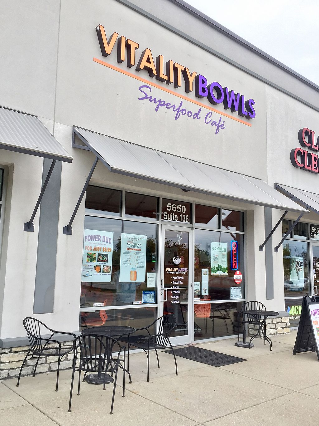 "Photo of Vitality Bowls  by <a href=""/members/profile/happycowgirl"">happycowgirl</a> <br/>main entrance (in strip mall, set back a bit from the road) <br/> August 6, 2017  - <a href='/contact/abuse/image/68480/289917'>Report</a>"