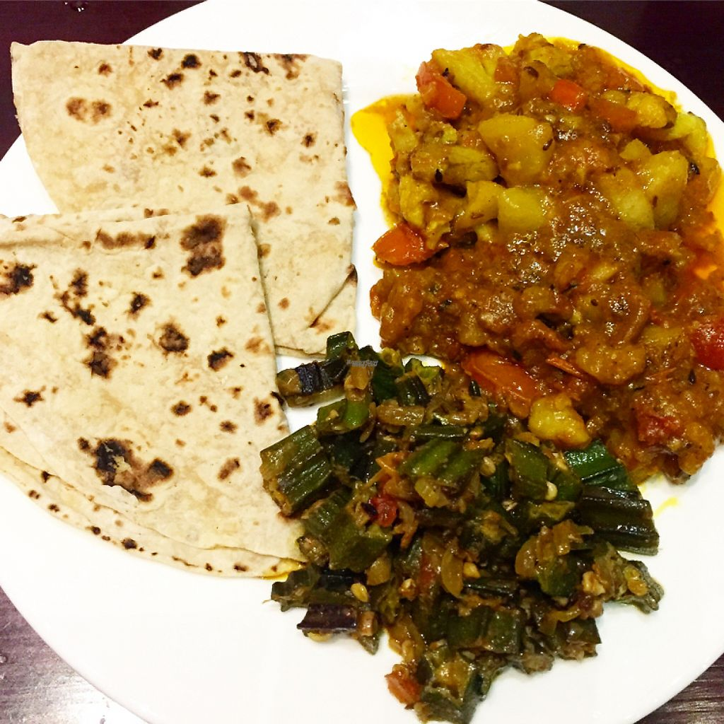 "Photo of Nepali & Indian Only Vegetable  by <a href=""/members/profile/HaileyPoLa"">HaileyPoLa</a> <br/>Aloo gobi, bindi masala, and nann <br/> March 5, 2017  - <a href='/contact/abuse/image/68501/232980'>Report</a>"
