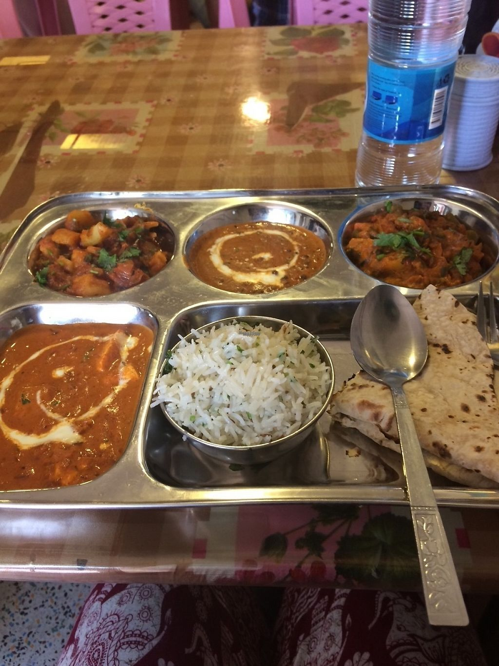 "Photo of Nepali & Indian Only Vegetable  by <a href=""/members/profile/Cyclinggal"">Cyclinggal</a> <br/>Indian thali, 5000 Kyats <br/> March 23, 2017  - <a href='/contact/abuse/image/68501/239647'>Report</a>"