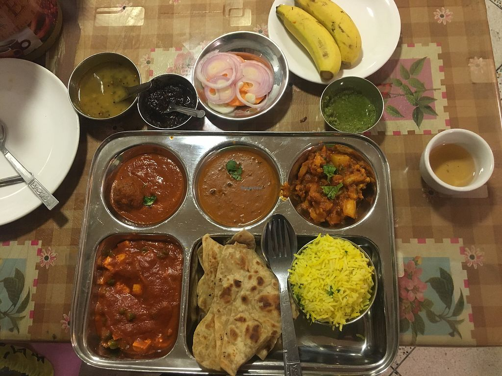 "Photo of Nepali & Indian Only Vegetable  by <a href=""/members/profile/KyleMacyHall"">KyleMacyHall</a> <br/>Thali Set <br/> December 31, 2017  - <a href='/contact/abuse/image/68501/341245'>Report</a>"