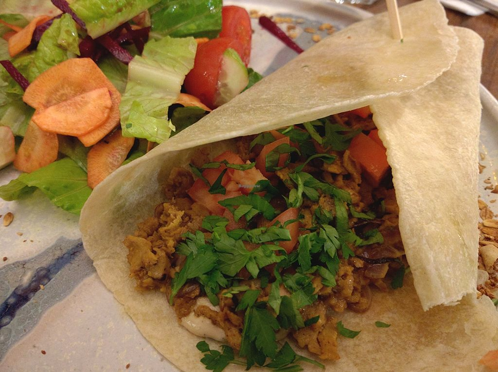 """Photo of Nocturno  by <a href=""""/members/profile/The%20Hungry%20Vegan"""">The Hungry Vegan</a> <br/>Vegan Shawarma is really really good! <br/> January 20, 2016  - <a href='/contact/abuse/image/68524/133154'>Report</a>"""