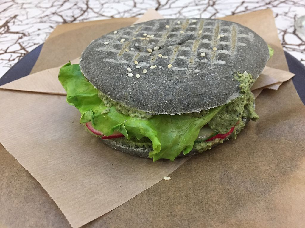"""Photo of VegBurger  by <a href=""""/members/profile/alicewoodward1"""">alicewoodward1</a> <br/>Smokey burger  <br/> October 25, 2017  - <a href='/contact/abuse/image/68534/318743'>Report</a>"""