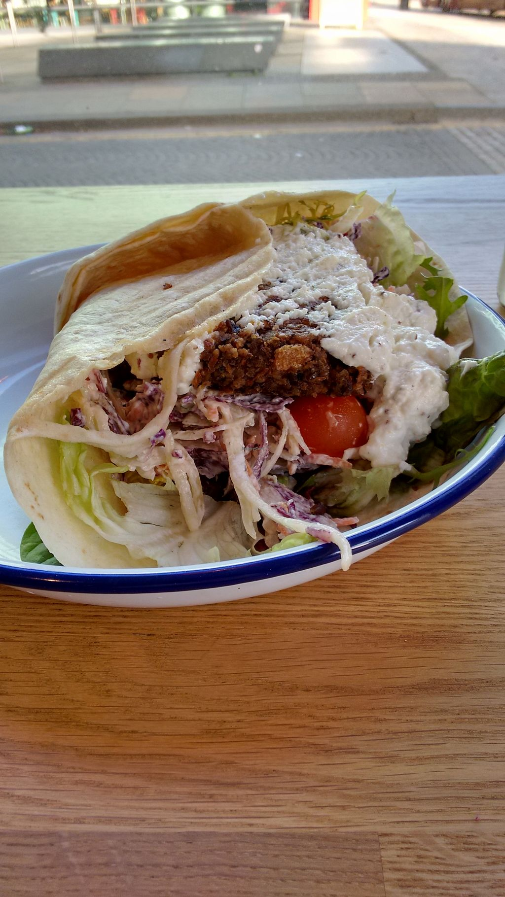 """Photo of Henderson's - Holyrood  by <a href=""""/members/profile/craigmc"""">craigmc</a> <br/>Vegan haggis burger wrap, huge! <br/> February 18, 2016  - <a href='/contact/abuse/image/68540/136815'>Report</a>"""