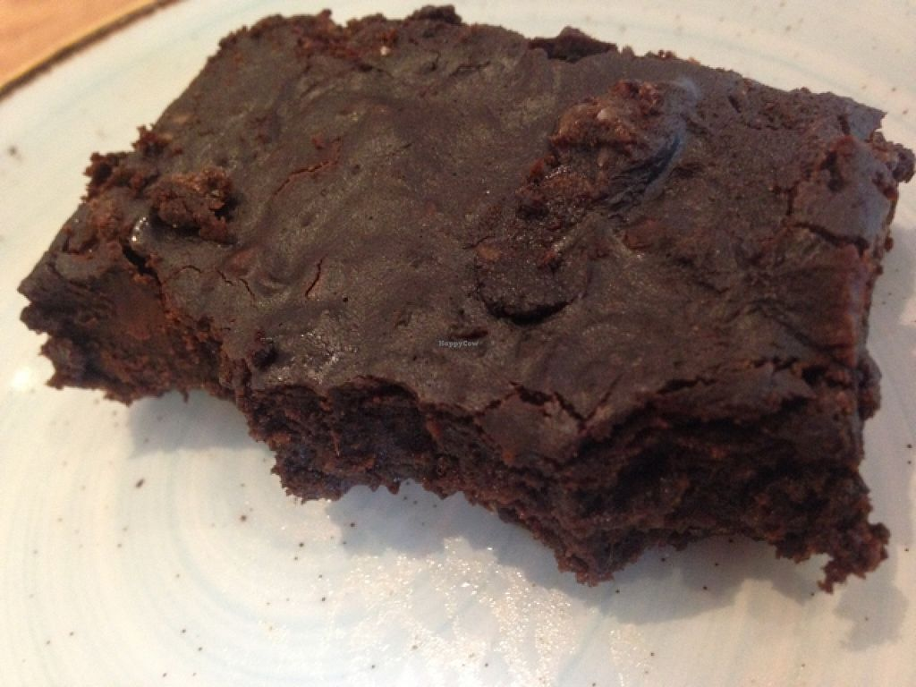 """Photo of Henderson's - Holyrood  by <a href=""""/members/profile/OliviaGreene"""">OliviaGreene</a> <br/>vegan brownie (half eaten!) <br/> April 18, 2016  - <a href='/contact/abuse/image/68540/145091'>Report</a>"""