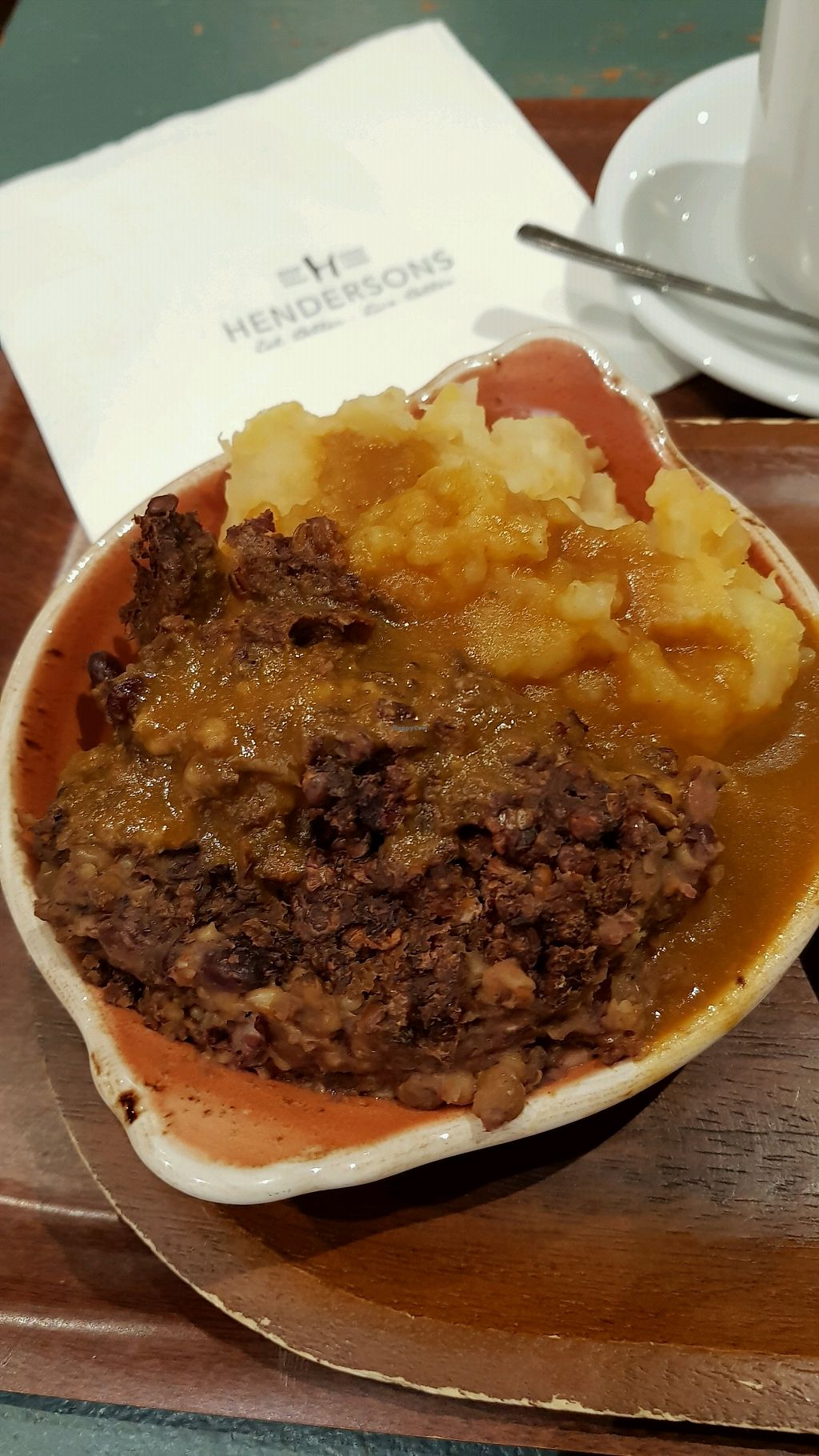"""Photo of Henderson's - Holyrood  by <a href=""""/members/profile/MoniqueNelson"""">MoniqueNelson</a> <br/>Vegan Haggis & Mash <br/> January 15, 2018  - <a href='/contact/abuse/image/68540/347006'>Report</a>"""