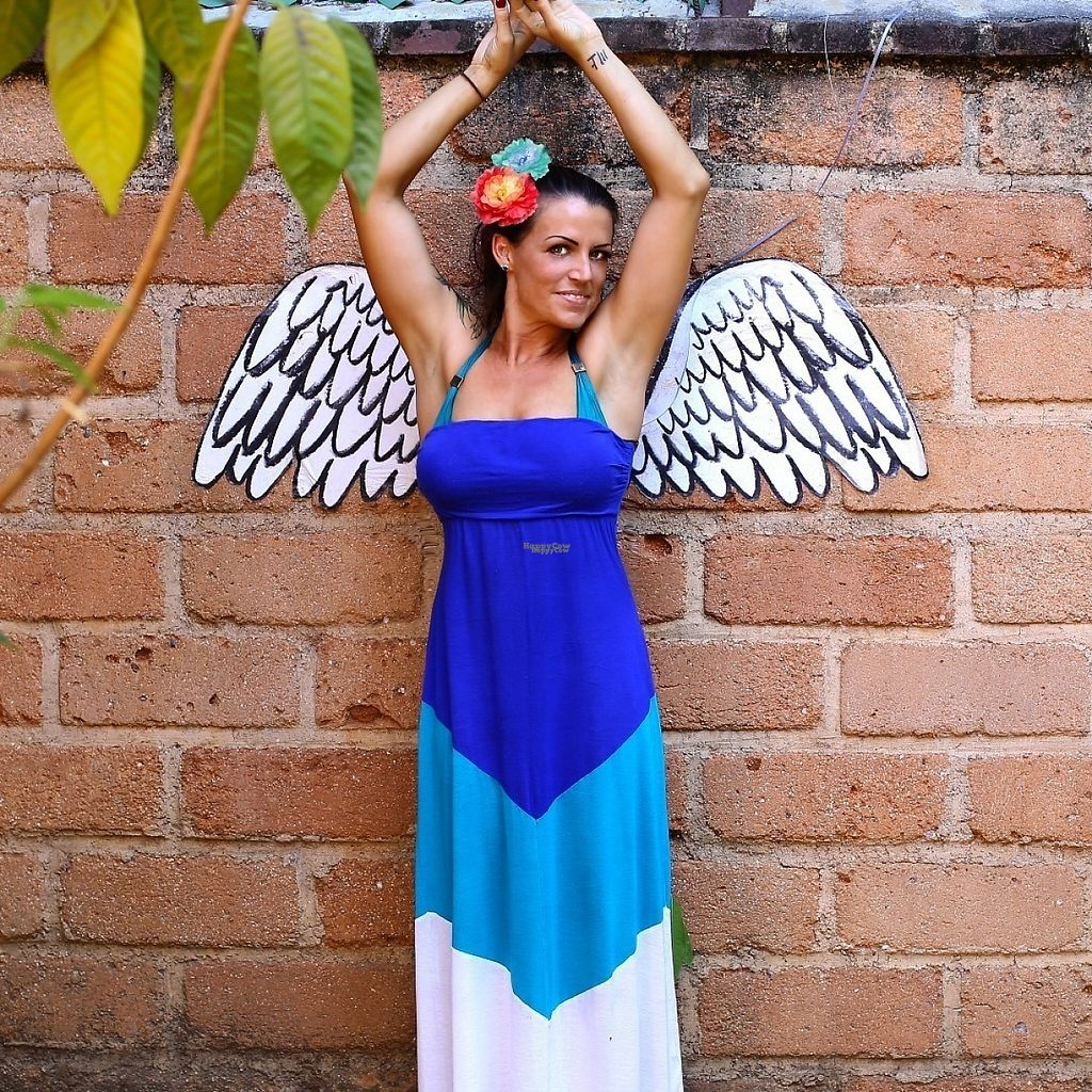 """Photo of Casita Ecovegana de Zihuatanejo Cooperativa  by <a href=""""/members/profile/DaniellePetze"""">DaniellePetze</a> <br/>Angel wings on the wall <br/> March 30, 2017  - <a href='/contact/abuse/image/68578/242684'>Report</a>"""