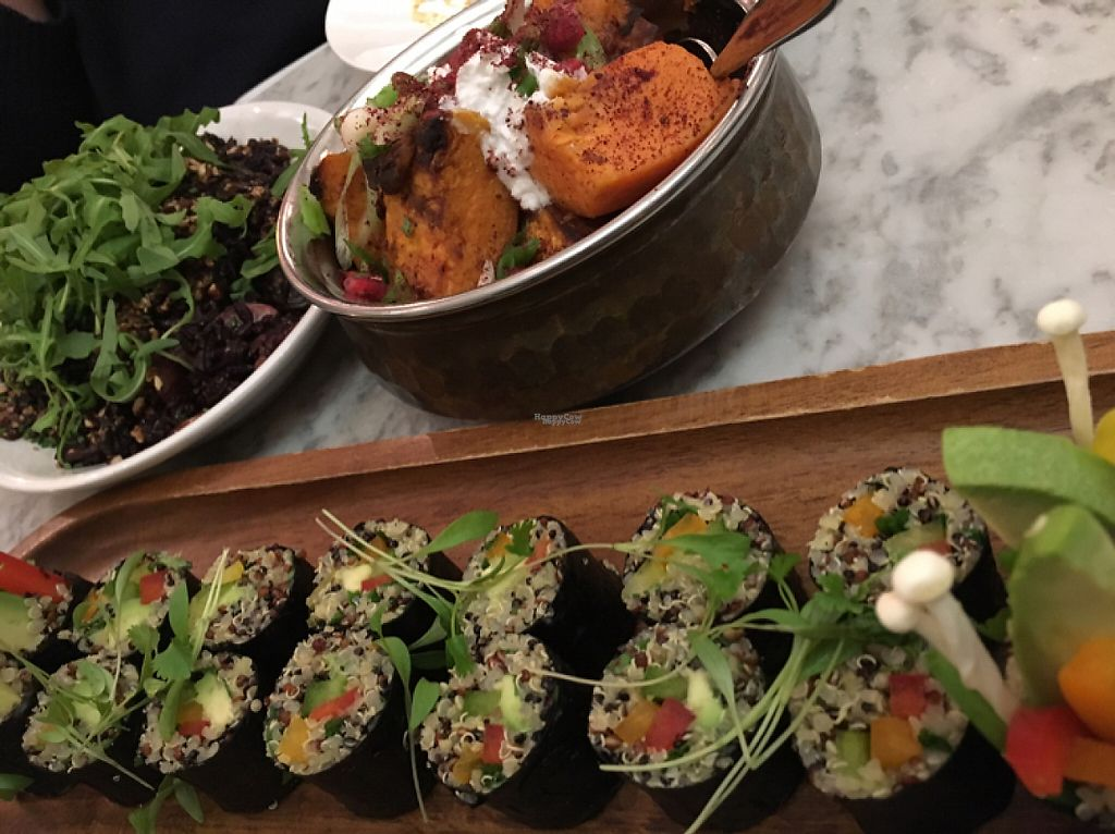 """Photo of Redemption - Shoreditch  by <a href=""""/members/profile/Noe"""">Noe</a> <br/>maki rolls, sweet potato and risotto <br/> November 21, 2016  - <a href='/contact/abuse/image/68589/192945'>Report</a>"""