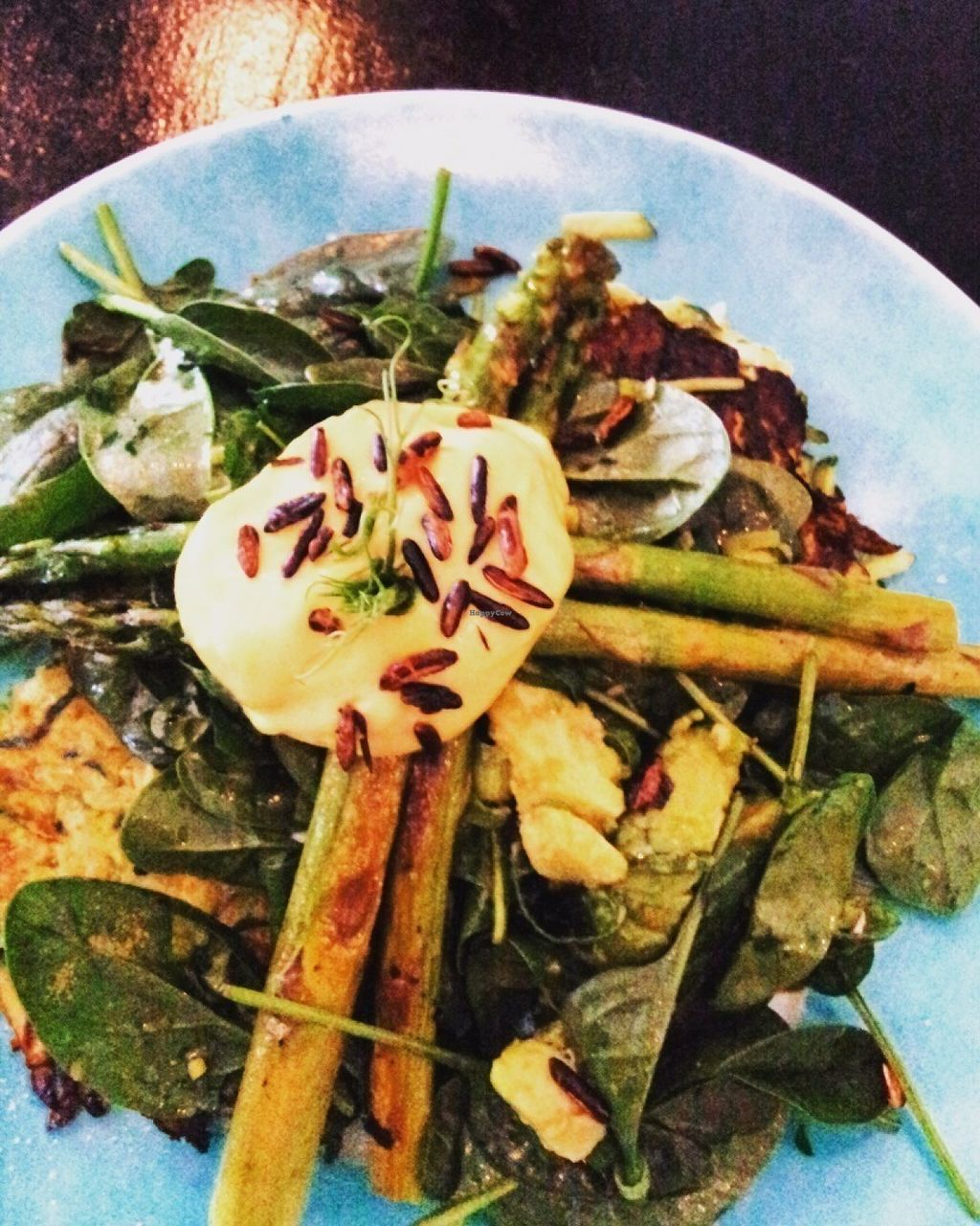 """Photo of CLOSED: Cloud Nine  by <a href=""""/members/profile/cseneque"""">cseneque</a> <br/>Zucchini hash with asparagus, avocado, spinach & vegan hollandaise sauce <br/> July 30, 2016  - <a href='/contact/abuse/image/68627/163279'>Report</a>"""
