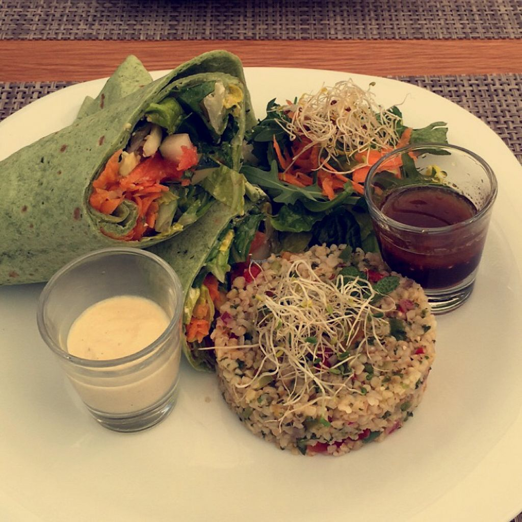 """Photo of Natural Cafe  by <a href=""""/members/profile/Estelle%20Piche"""">Estelle Piche</a> <br/>veggie wrap!  <br/> January 27, 2016  - <a href='/contact/abuse/image/68630/133885'>Report</a>"""