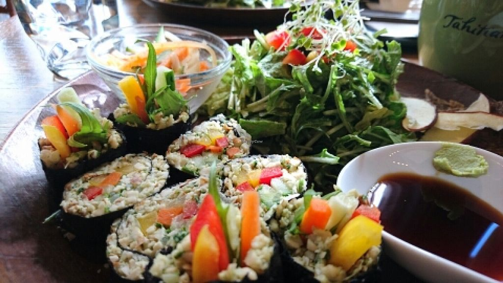 """Photo of Tahitian Noni Cafe  by <a href=""""/members/profile/Dabrowskiowski"""">Dabrowskiowski</a> <br/>raw nut sushi <br/> January 23, 2016  - <a href='/contact/abuse/image/68635/133439'>Report</a>"""