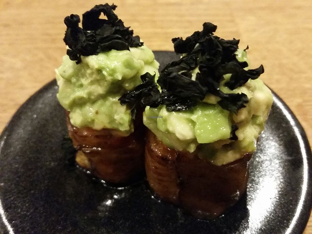 """Photo of Youmiko Vegan Sushi  by <a href=""""/members/profile/eric"""">eric</a> <br/>eggplant sushi <br/> May 11, 2016  - <a href='/contact/abuse/image/68693/148465'>Report</a>"""