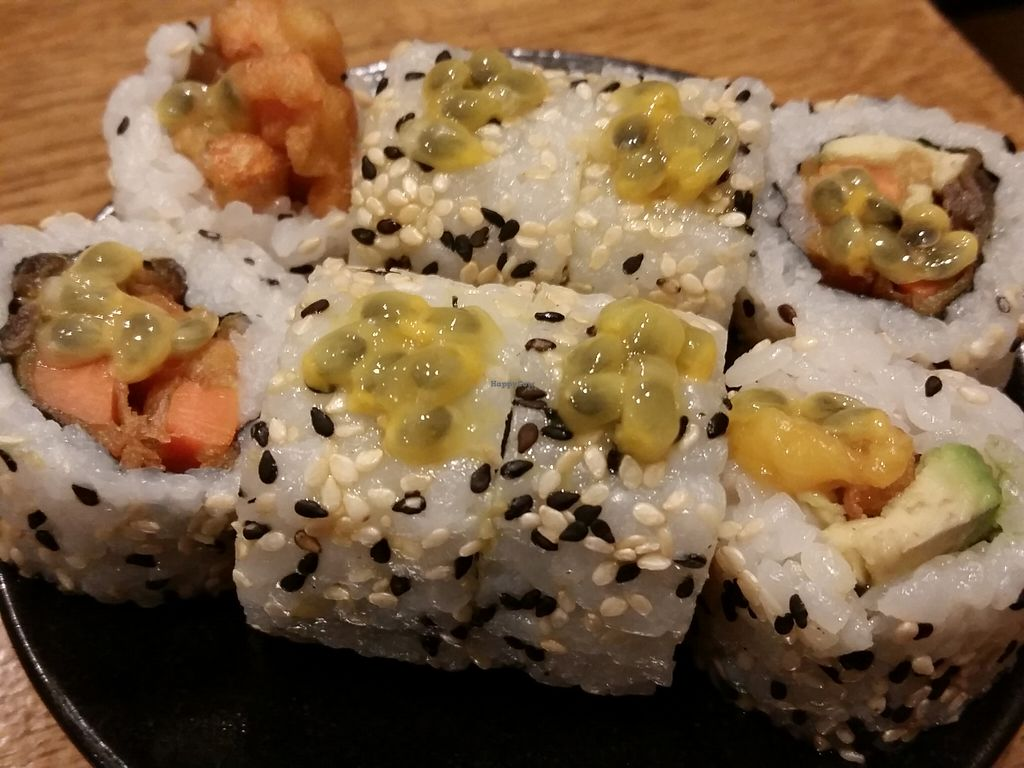 """Photo of Youmiko Vegan Sushi  by <a href=""""/members/profile/eric"""">eric</a> <br/>part of sushi set <br/> May 11, 2016  - <a href='/contact/abuse/image/68693/148468'>Report</a>"""