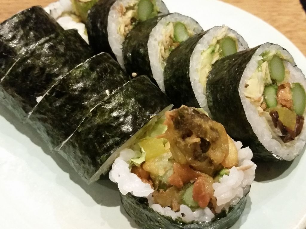 """Photo of Youmiko Vegan Sushi  by <a href=""""/members/profile/eric"""">eric</a> <br/>part of the sushi set <br/> May 11, 2016  - <a href='/contact/abuse/image/68693/148469'>Report</a>"""