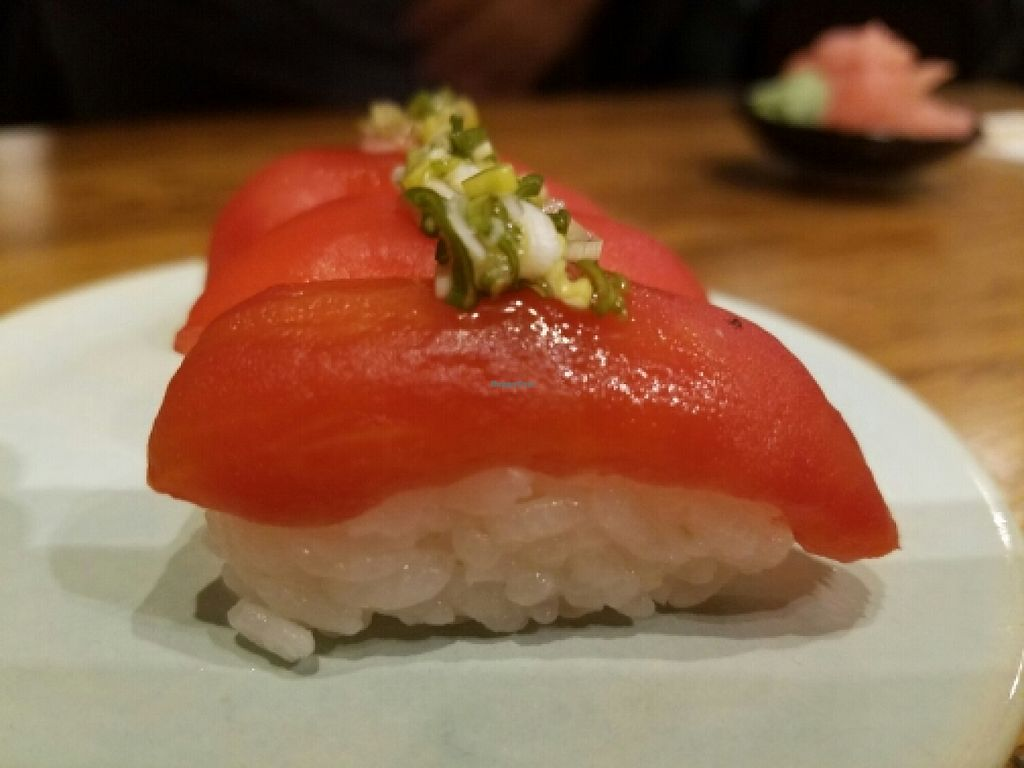 """Photo of Youmiko Vegan Sushi  by <a href=""""/members/profile/kenvegan"""">kenvegan</a> <br/>'Tuna' Sushi <br/> May 11, 2016  - <a href='/contact/abuse/image/68693/148517'>Report</a>"""