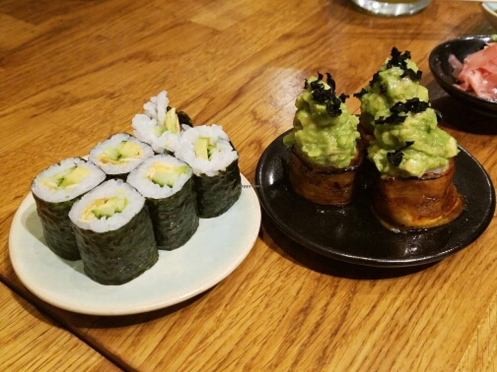 """Photo of Youmiko Vegan Sushi  by <a href=""""/members/profile/kenvegan"""">kenvegan</a> <br/>Assorted Sushi <br/> May 11, 2016  - <a href='/contact/abuse/image/68693/148518'>Report</a>"""