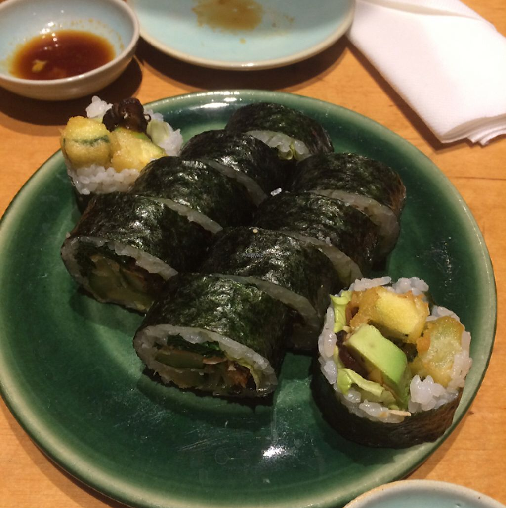 """Photo of Youmiko Vegan Sushi  by <a href=""""/members/profile/monisonfire"""">monisonfire</a> <br/>tempura sushi!  <br/> April 26, 2017  - <a href='/contact/abuse/image/68693/252823'>Report</a>"""