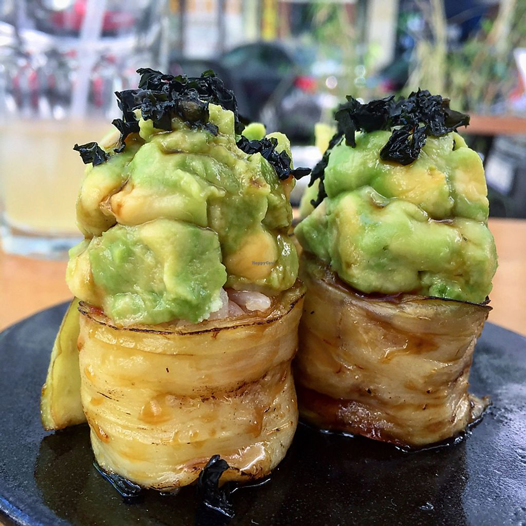 """Photo of Youmiko Vegan Sushi  by <a href=""""/members/profile/Bea_lc"""">Bea_lc</a> <br/>the """"cake"""" maki... YUM! BEST food I have ever tasted!!!!  <br/> June 28, 2017  - <a href='/contact/abuse/image/68693/274428'>Report</a>"""