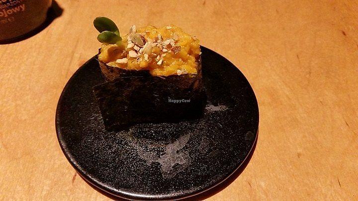 "Photo of Youmiko Vegan Sushi  by <a href=""/members/profile/FernandoMoreira"">FernandoMoreira</a> <br/>Pumpkin piece (Okimari I) <br/> December 31, 2017  - <a href='/contact/abuse/image/68693/341299'>Report</a>"