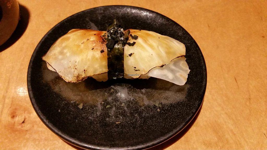 "Photo of Youmiko Vegan Sushi  by <a href=""/members/profile/FernandoMoreira"">FernandoMoreira</a> <br/>Nigiri (Okimari I) <br/> December 31, 2017  - <a href='/contact/abuse/image/68693/341300'>Report</a>"