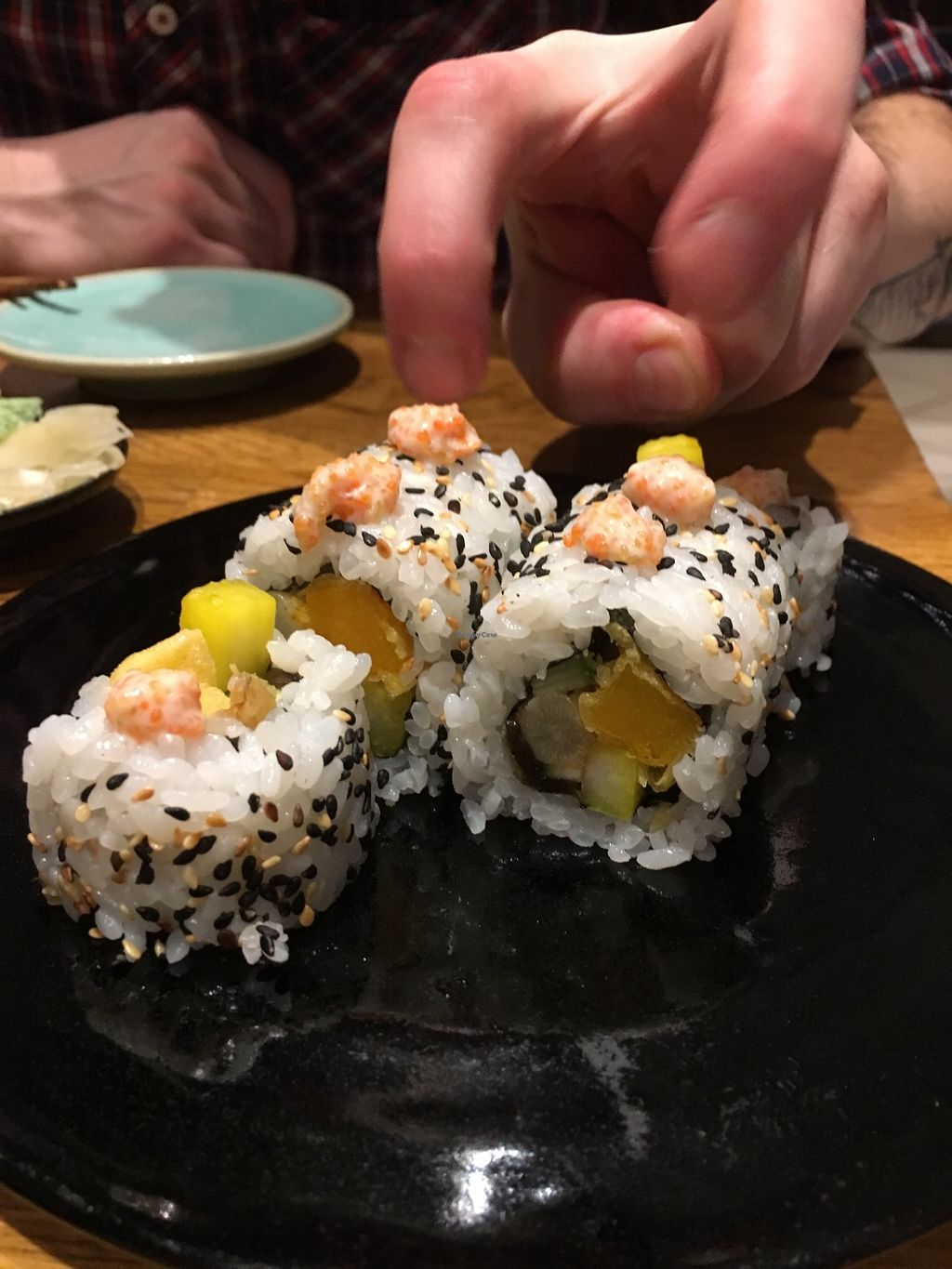 """Photo of Youmiko Vegan Sushi  by <a href=""""/members/profile/Kwacha"""">Kwacha</a> <br/>tasting menu <br/> January 17, 2018  - <a href='/contact/abuse/image/68693/347636'>Report</a>"""