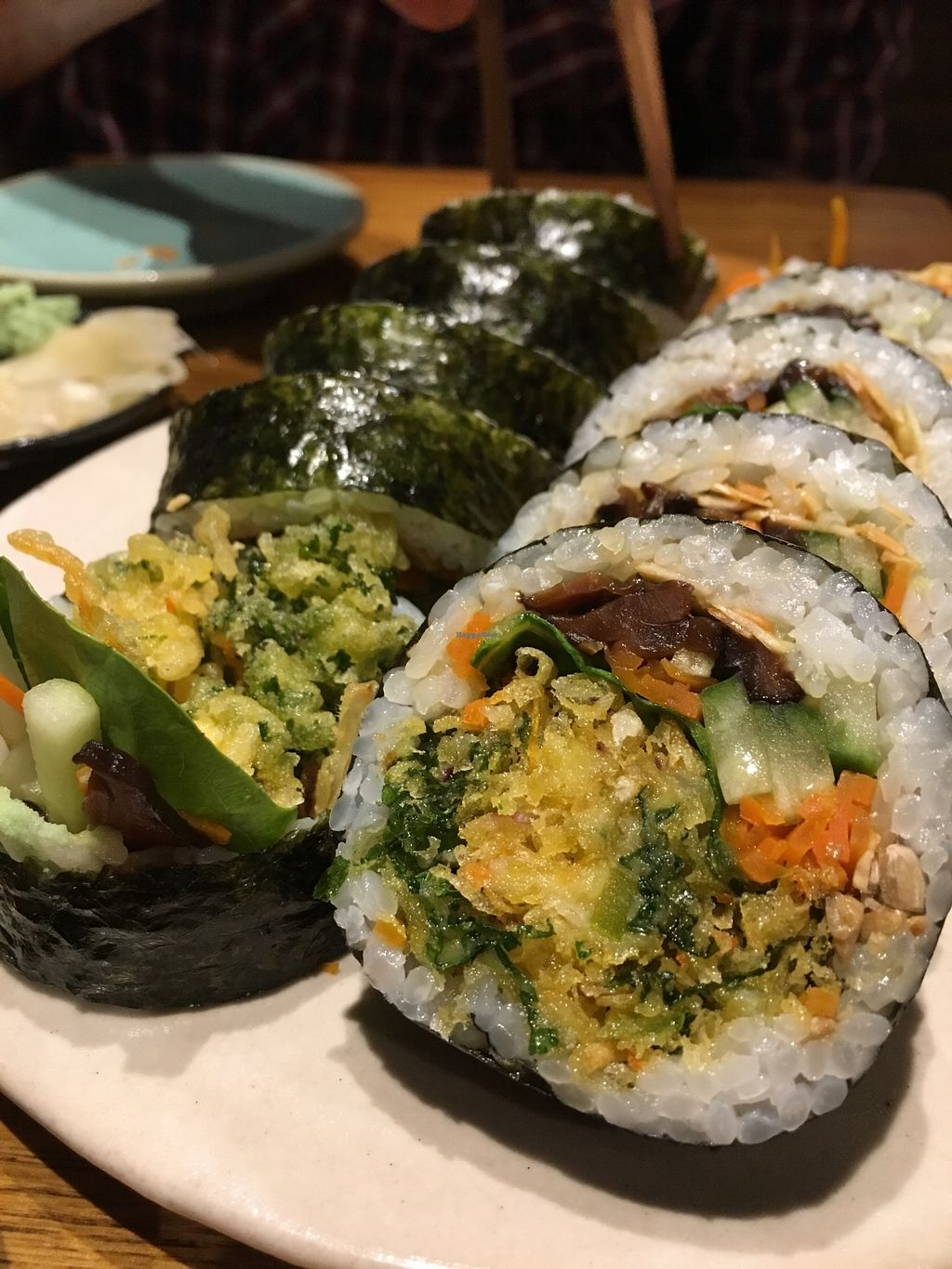 """Photo of Youmiko Vegan Sushi  by <a href=""""/members/profile/Kwacha"""">Kwacha</a> <br/>tasting menu <br/> January 17, 2018  - <a href='/contact/abuse/image/68693/347640'>Report</a>"""