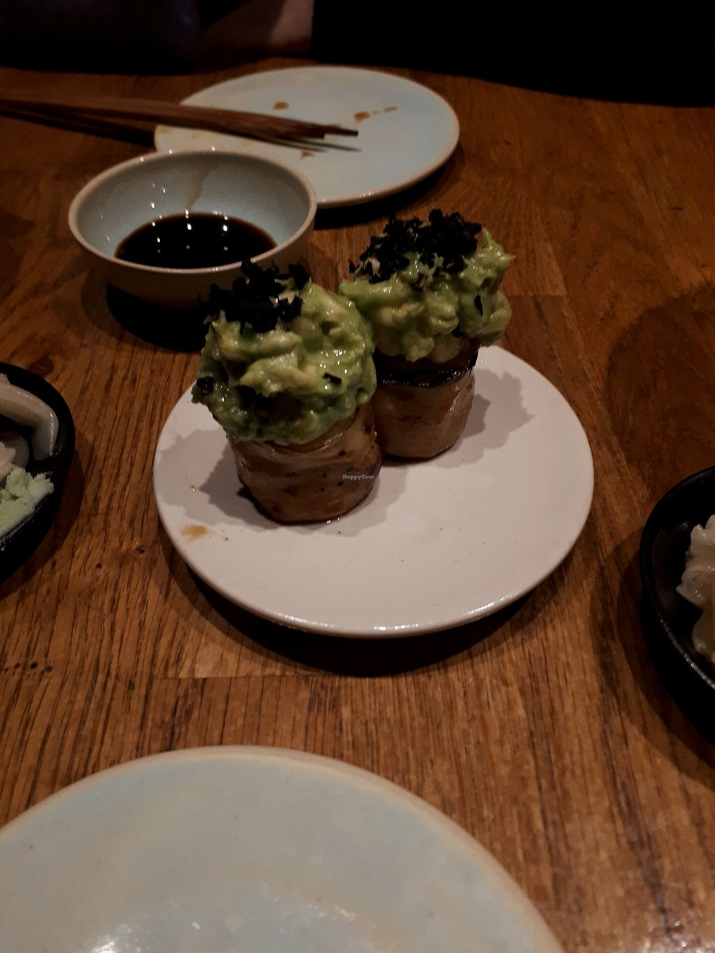 """Photo of Youmiko Vegan Sushi  by <a href=""""/members/profile/Aliz%C3%A9eMtn"""">AlizéeMtn</a> <br/>the amazing avocado and eggplant sushi <br/> January 22, 2018  - <a href='/contact/abuse/image/68693/349867'>Report</a>"""
