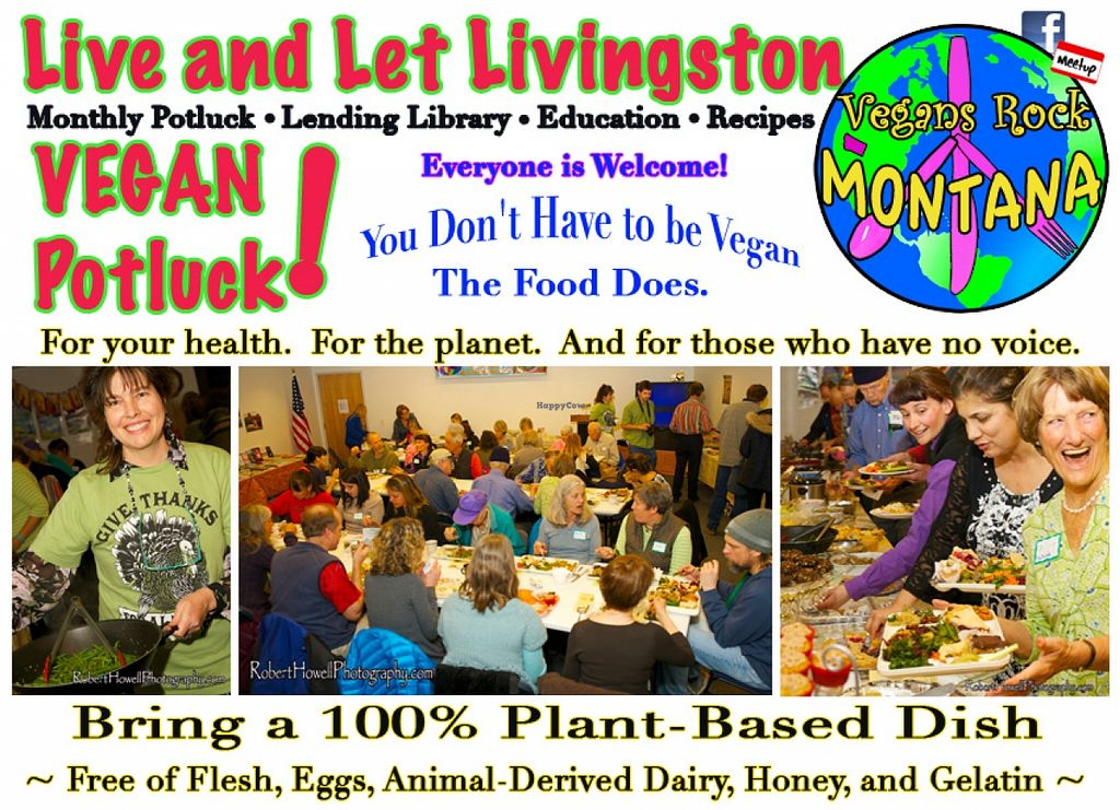 """Photo of Live and Let Livingston  by <a href=""""/members/profile/Bonnie%20Goodman"""">Bonnie Goodman</a> <br/>Live and Let Livingston meets on the Second Sunday of every month at 4:30pm. Everyone is welcome. 'You don't have to be vegan, but the food does!' Those who don't want to cook can bring something to drink.  Monthly theme is always optional.  <br/> January 25, 2016  - <a href='/contact/abuse/image/68706/133652'>Report</a>"""