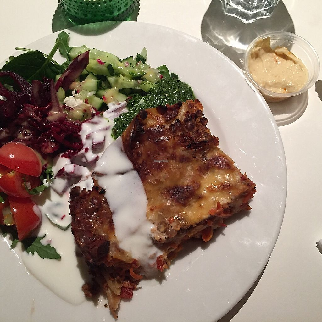 """Photo of Kruska  by <a href=""""/members/profile/Anne26"""">Anne26</a> <br/>Vegetable lasagne with salad and yoghurt dressing <br/> February 6, 2018  - <a href='/contact/abuse/image/68761/355681'>Report</a>"""