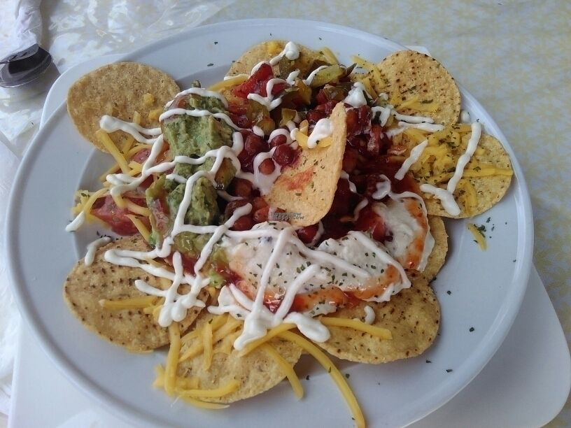 """Photo of Herbee's Garden Cafe  by <a href=""""/members/profile/PamellaSousa"""">PamellaSousa</a> <br/>Vegan nachos <br/> October 6, 2016  - <a href='/contact/abuse/image/68780/179961'>Report</a>"""