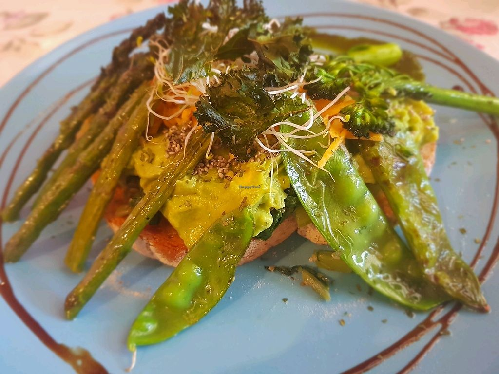 """Photo of Herbee's Garden Cafe  by <a href=""""/members/profile/AsraiRose"""">AsraiRose</a> <br/>vegan green brekkie <br/> November 5, 2017  - <a href='/contact/abuse/image/68780/321906'>Report</a>"""